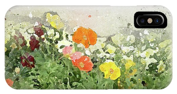 Poppies-2-c IPhone Case