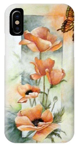 Poppies And Butterfly IPhone Case