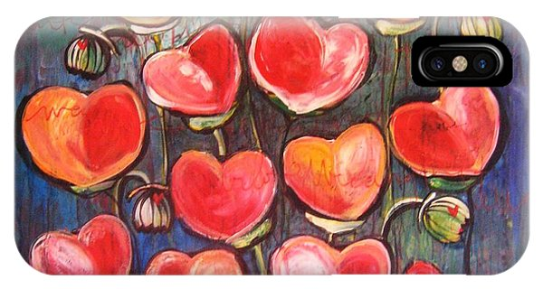 Poppies Are Hearts Of Love We Can Give Away IPhone Case