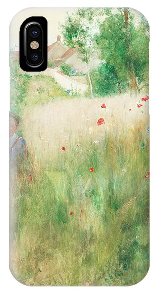 Art And Craft iPhone Case - Poppies by Carl Larsson