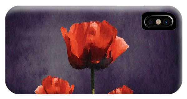 Poppies iPhone Case - Poppies Fun 01b by Variance Collections