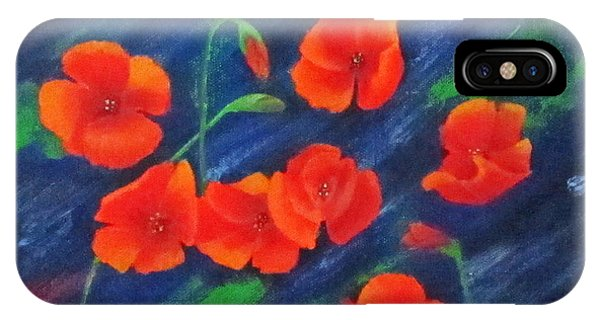Poppies In Abstract IPhone Case
