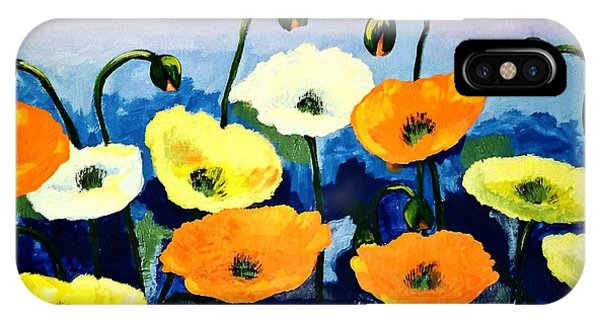 Poppies In Colour IPhone Case
