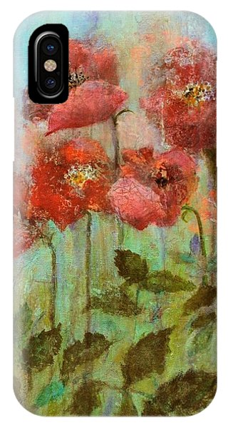 Poppies In Pastel Watercolour IPhone Case