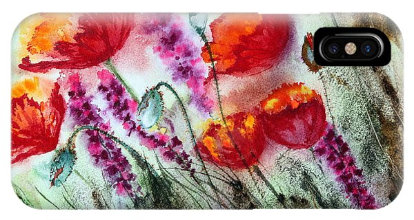 Poppies In The Wind IPhone Case