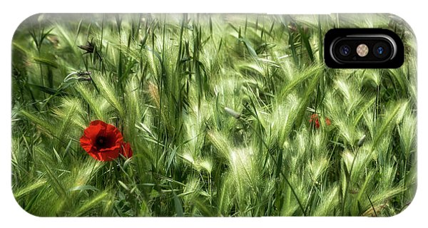 Poppies In Wheat IPhone Case