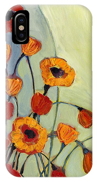 Red iPhone X Case - Poppies by Jennifer Lommers