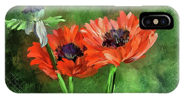 Poppies iPhone Case - Poppies by Lois Bryan