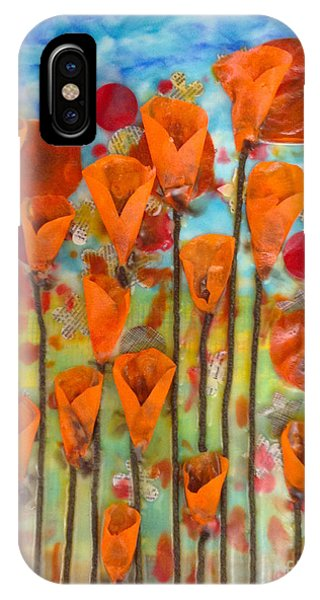 Poppies Make Me Happy IPhone Case