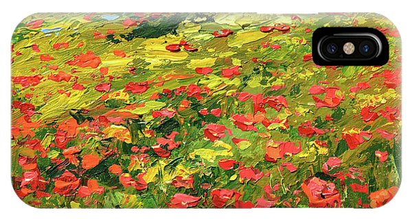 Poppies Near The Village IPhone Case