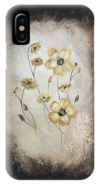 Poppies On Black IPhone Case