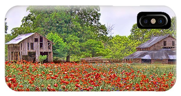 Poppies On The Farm IPhone Case