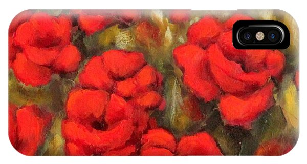 Poppies Passion Fragment IPhone Case