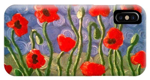 Poppies Phone Case by Tina Hollis
