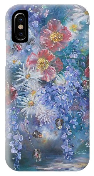Poppies, Wisteria And Marguerites IPhone Case