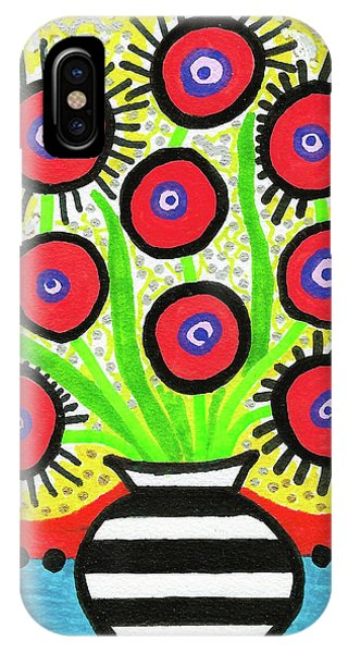 Poppin' Red Poppies IPhone Case