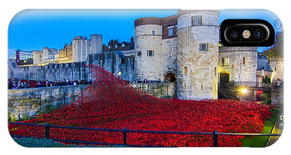 Poppy Flowers Tower Of London IPhone Case