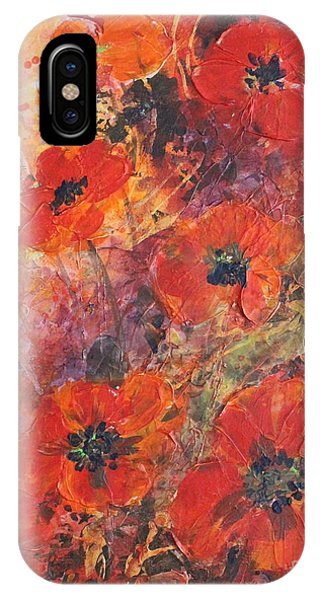 Poppy Glow IPhone Case