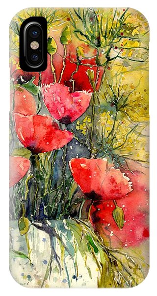 England iPhone Case - Poppy Impression by Suzann Sines