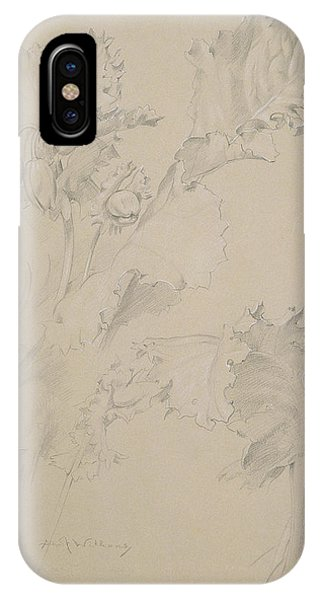 Flora iPhone Case - Poppy Leaves by Albert Williams