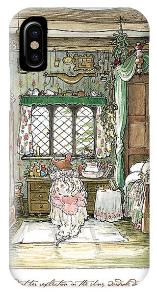 Ceremony iPhone Case - Poppy Puts On Her Wedding Dress by Brambly Hedge