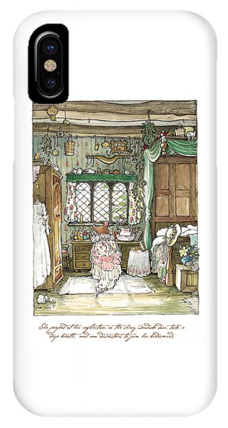 Coloured Pencil iPhone Case - Poppy Puts On Her Wedding Dress by Brambly Hedge