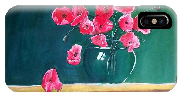 Poppy Still Life IPhone Case
