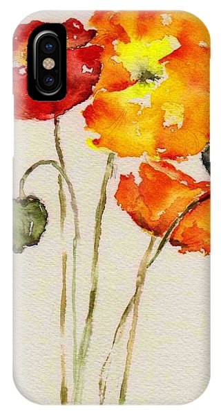 Poppy Trio IPhone Case