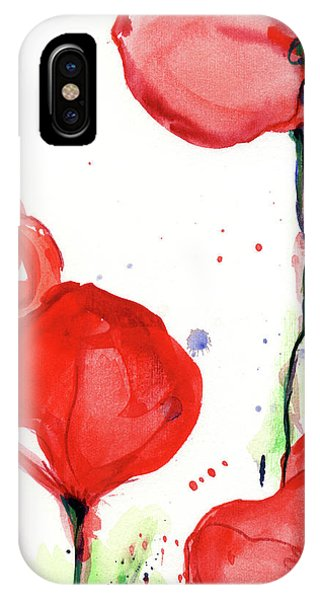iPhone Case - Poppyred by Johannes Margreiter