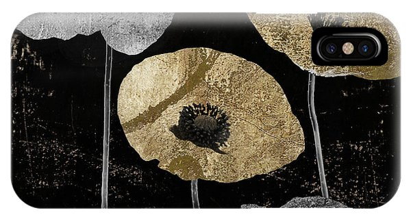 Silver And Gold iPhone Case - Poppyville by Mindy Sommers