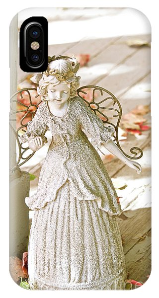 Porch Angel In The Fall IPhone Case