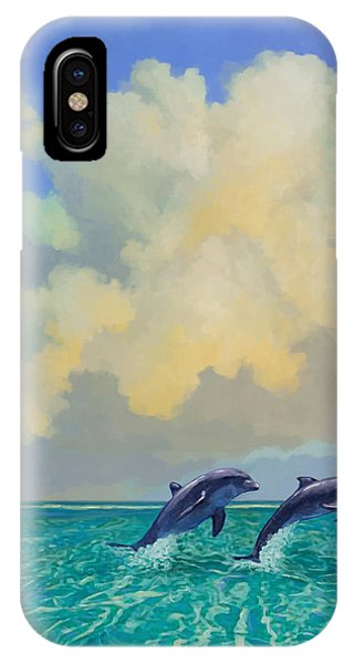 Porpoiseful Play IPhone Case