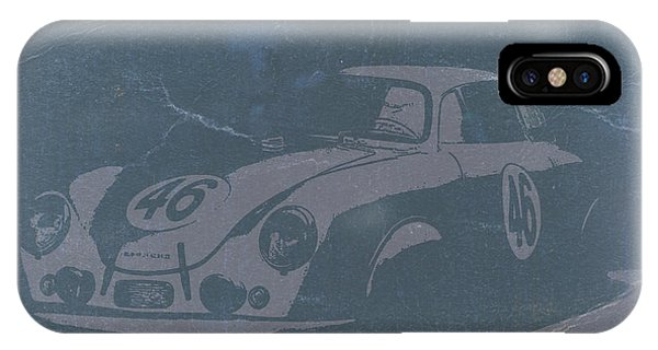 American Cars iPhone Case - Porsche 356 Coupe Front by Naxart Studio