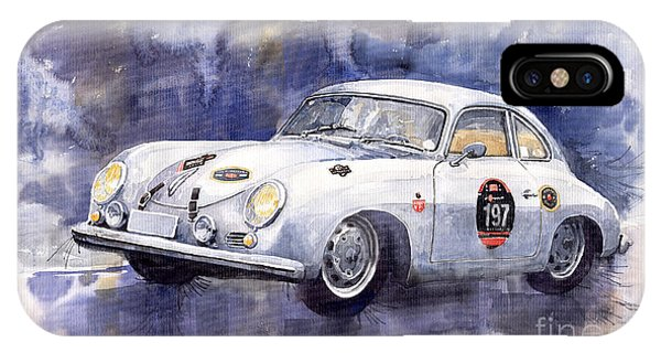 Watercolour iPhone Case - Porsche 356 Coupe by Yuriy Shevchuk