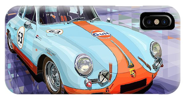 Car iPhone X Case - Porsche 356 Gulf by Yuriy Shevchuk