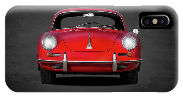 Car iPhone X Case - Porsche 356 by Mark Rogan