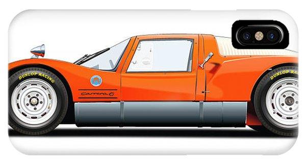 Holland iPhone Case - Porsche 906 Illustration by Alain Jamar