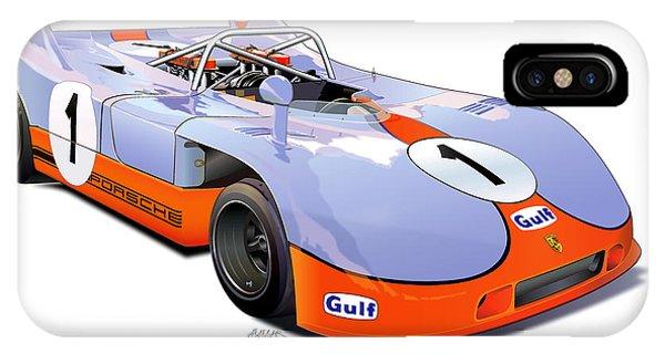 porsche 908 GULF illustration IPhone Case