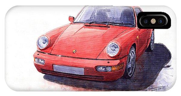 Auto iPhone Case - Porsche 911 Carrera 2 1990 by Yuriy Shevchuk