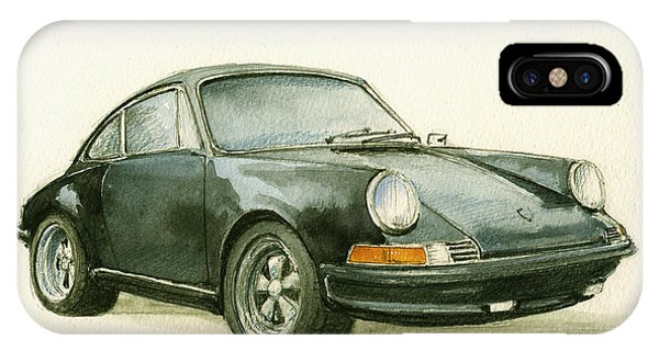 Decor iPhone Case - Porsche 911 Classic Car Art by Juan  Bosco