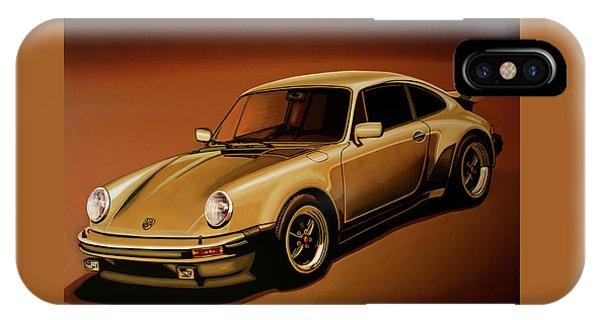 Beetle iPhone Case - Porsche 911 Turbo 1976 Painting by Paul Meijering