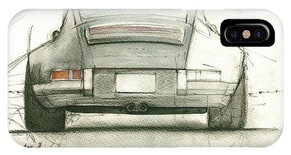 Watercolor iPhone Case - Porsche 911 Rs by Juan Bosco