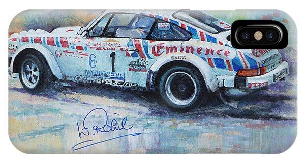 Automotive iPhone Case - Porsche 911 Sc  Rallye Sanremo 1981 by Yuriy Shevchuk