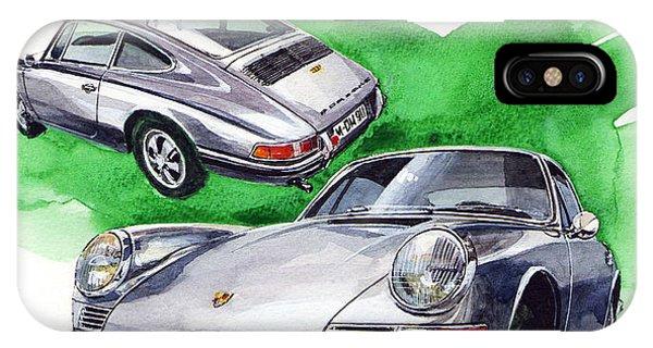 Stainless Steel iPhone Case - Porsche 911 Stainless Steel Body by Yoshiharu Miyakawa