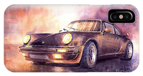 Car iPhone X Case - Porsche 911 Turbo 1979 by Yuriy Shevchuk