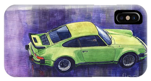 Car iPhone X Case - Porsche 911 Turbo Green by Yuriy Shevchuk