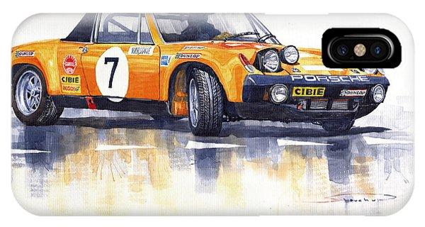 Automotive iPhone Case - Porsche 914-6 Gt Rally by Yuriy Shevchuk