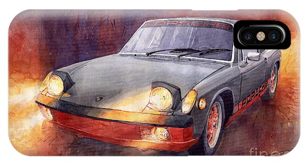 Auto iPhone Case - 1970 Porsche 914 by Yuriy Shevchuk