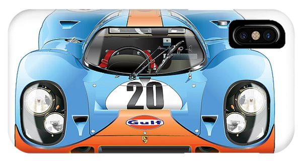Porsche 917 Gulf On White IPhone Case