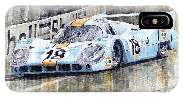 Automotive iPhone Case - Porsche 917 Lh 24 Le Mans 1971 Rodriguez Oliver by Yuriy Shevchuk